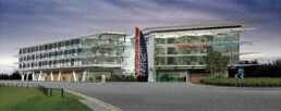 newcastle airport hotel 3d render