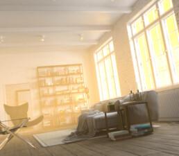 room interior 3d render
