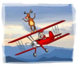 santas holiday illustration