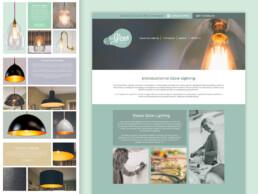 glow lighting website design