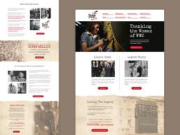 raise your hats website design
