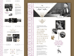 the unusualist website design