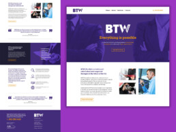 btw north website design