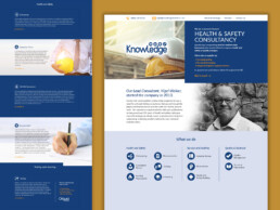 knowledge health and safety website design