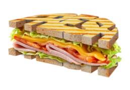 3D sandwich illustration